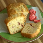 Vanilla, Pistachio and Strawberry Mini Loaf Cakes