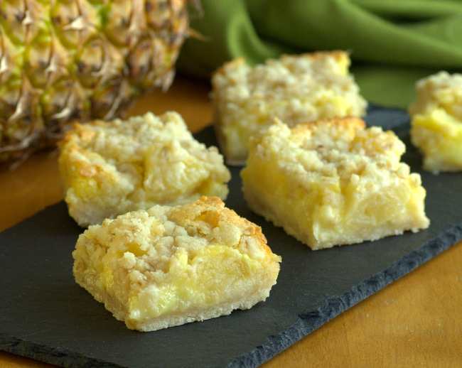 Pineapple Crumble Bars