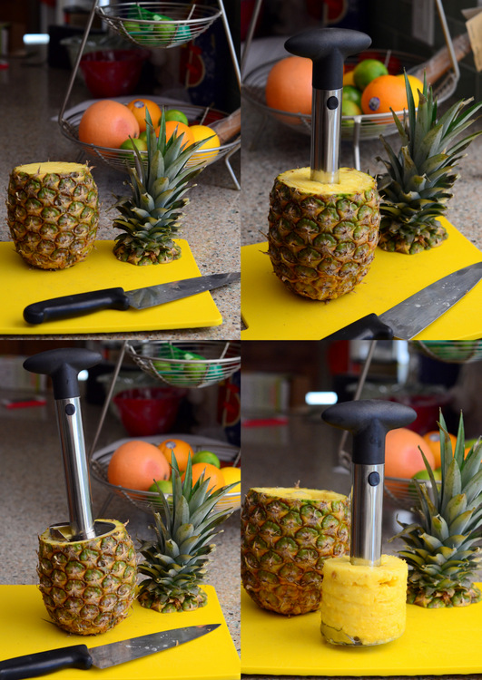 How to Use a Pineapple Corer, Step by Step