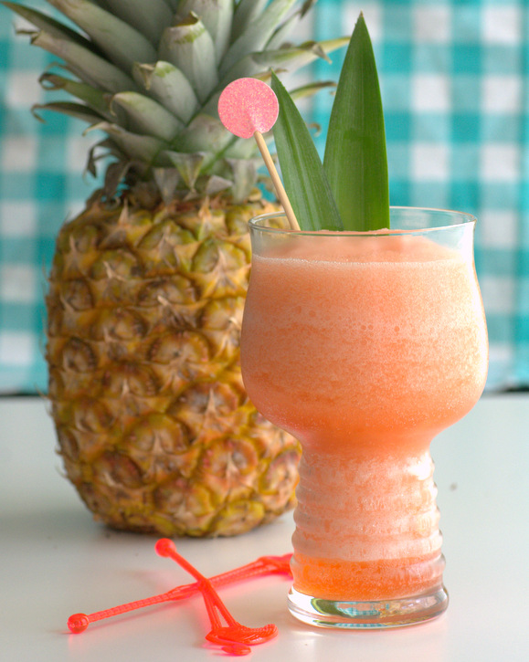 Tropical Frozen Negroni, a blended summer cocktail