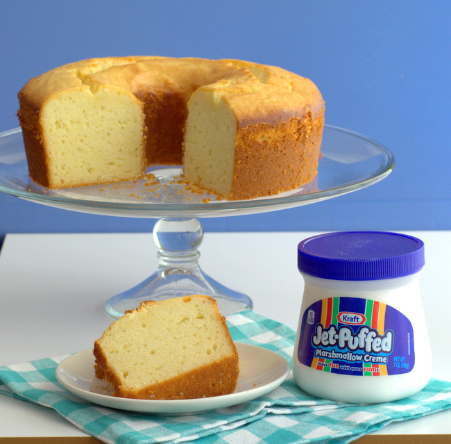 Marshmallow Creme Pound Cake