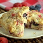 Red, White and Blueberry Scones