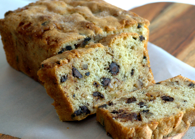 Walnut Chocolate Chip Loaf Cake