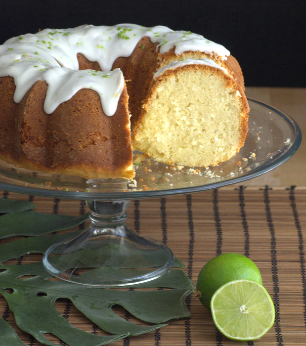 Coconut Bundt Cake with Lime Glaze