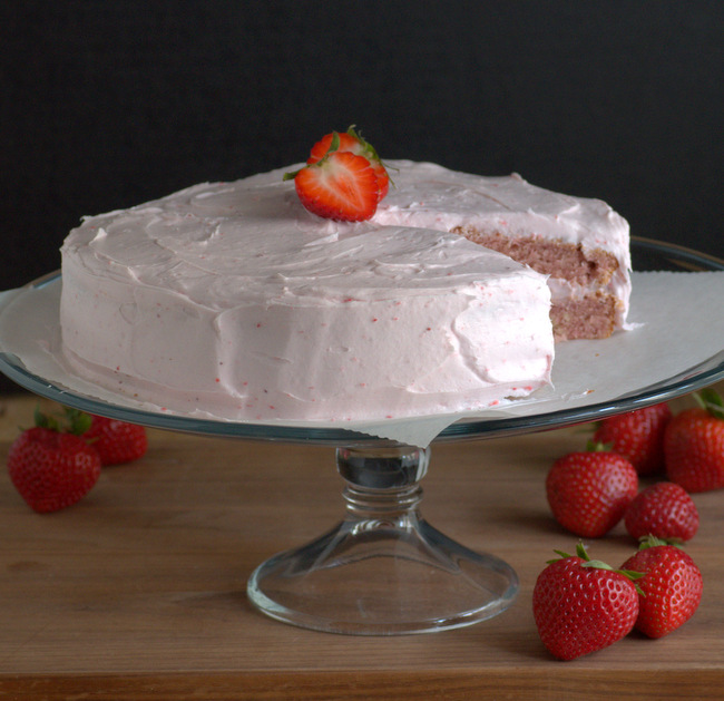 Fresh Strawberry Layer Cake