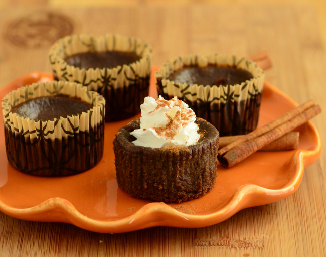 Dark Chocolate Mini Pumpkin Pies