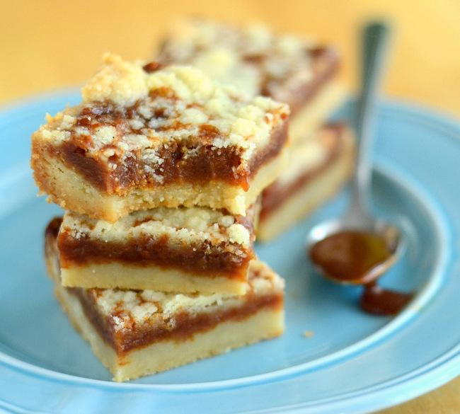 Cajeta Caramel Shortbread Bars