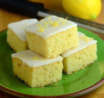 Iced Lemon Bars