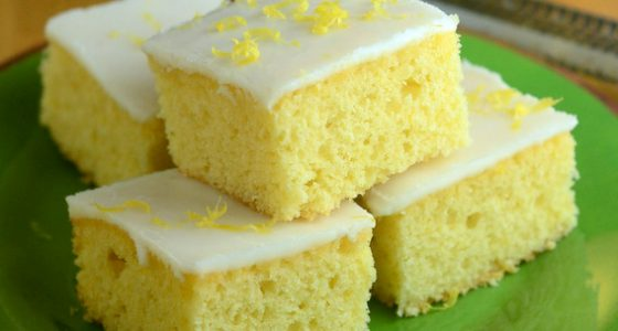 Iced Lemon Bars