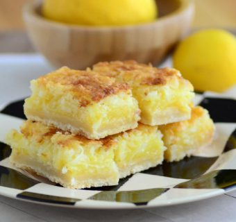 Lemon Lime Coconut Bars with Shortbread Crust