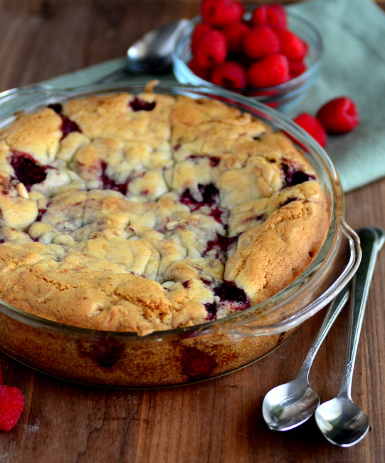 White Chocolate Raspberry Skillet Cookie