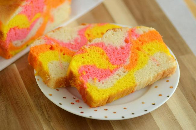 Tie Dye Easter Loaf Cake