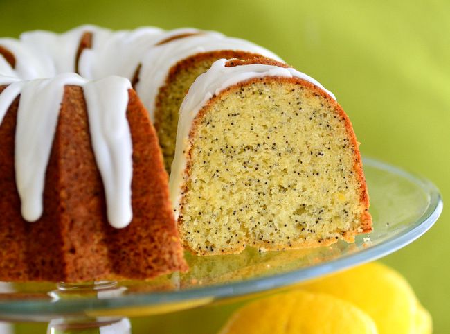 Lemon Lime Poppyseed Cake