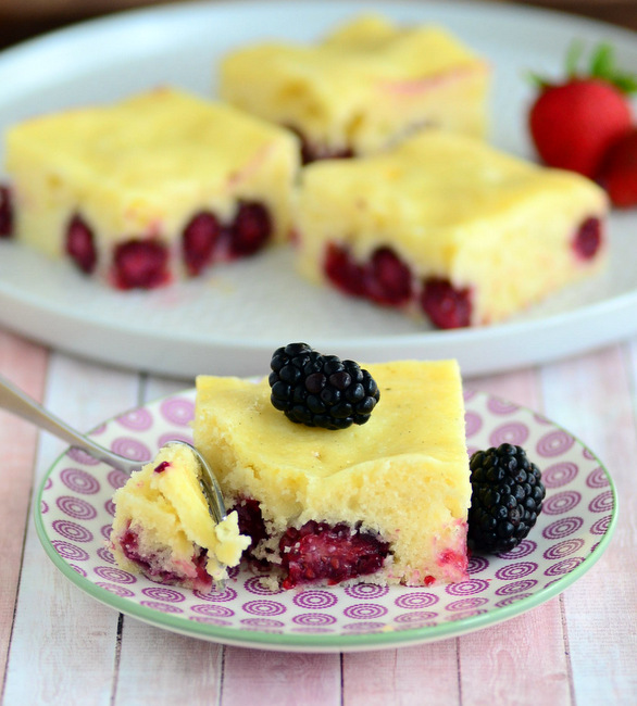 Blackberries & Cream Coffee Cake