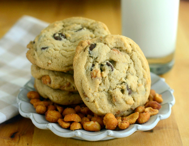 Honey Roasted Peanut Chocolate Chip Cookies
