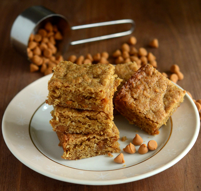 Salted Butterscotch Coconut Blondies