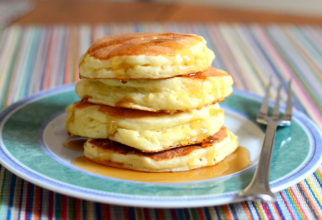 Light & Fluffy Ricotta Pancakes