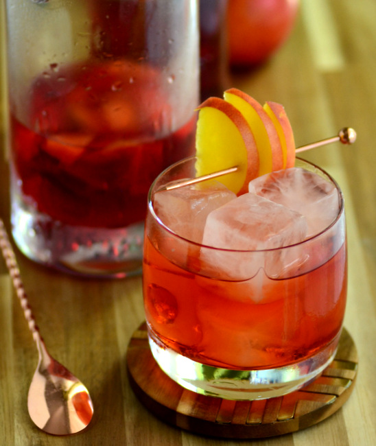 Nectarine Negroni - with Nectarine-Infused Campari
