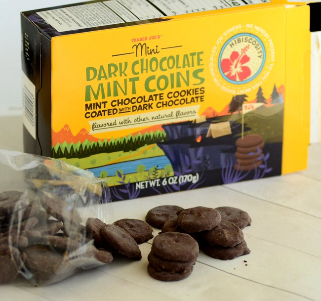 Trader Joe's Mini Dark Chocolate Mint Coins, reviewed