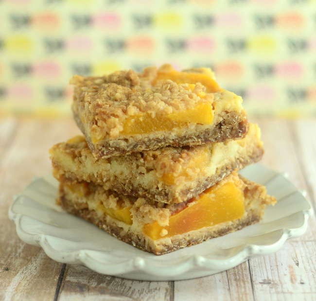 Peach Cobbler Oatmeal Bars