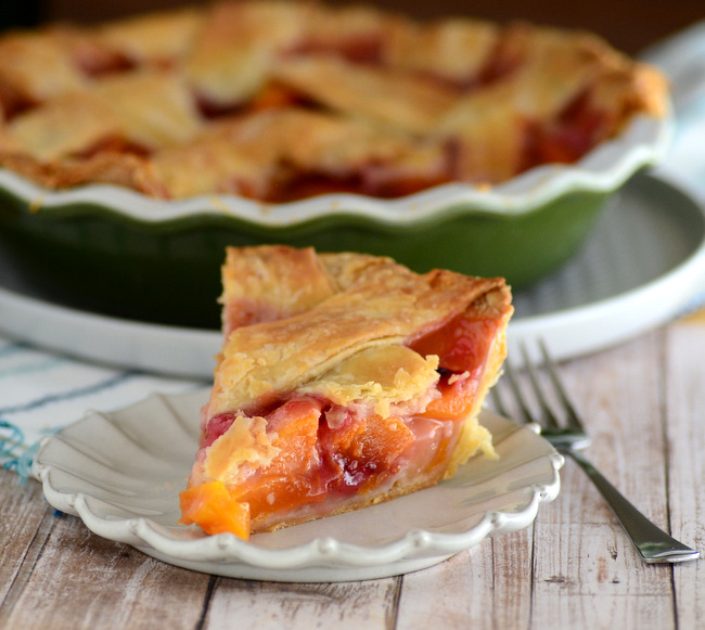 Classic Lattice-Topped Fresh Peach Pie