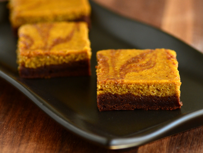 Marbled Pumpkin Cheesecake Brownies