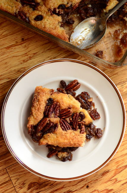 Pecan and Raisin Cobbler