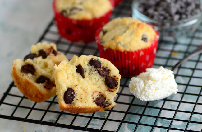 Ricotta Chocolate Chip Muffins