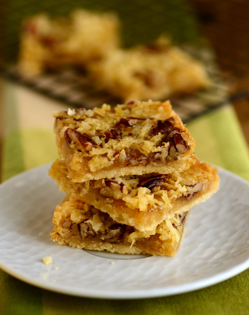 Coconut Maple Pecan Bars
