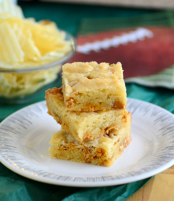 Sweet and Salty Butterscotch Potato Chip Blondies