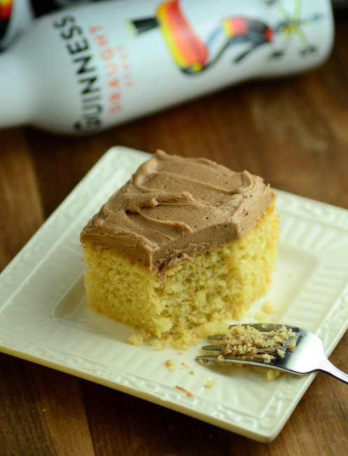 Vanilla Guinness Sheet Cake