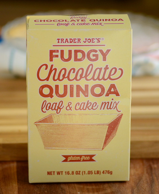 Trader Joe's Fudgy Chocolate Quinoa Loaf Cake Mix, reviewed