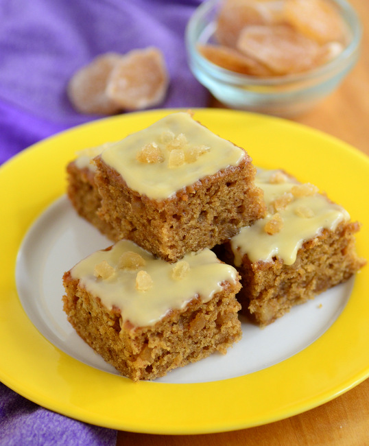 Ginger Passion Fruit Cake Bars