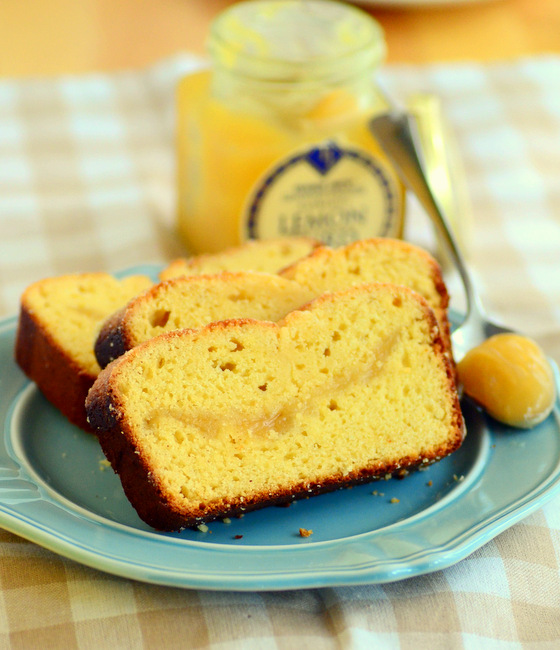 Lemon Curd Swirl Quick Bread