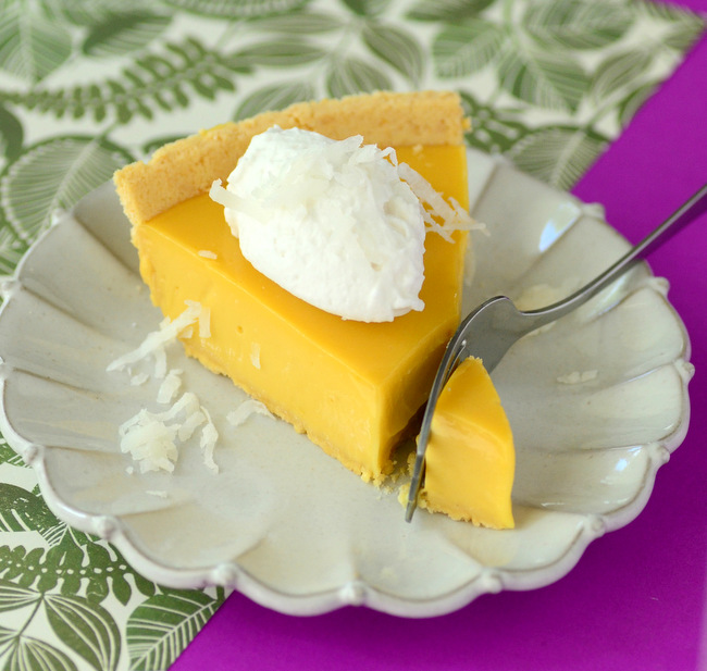 Passion Fruit Pie with Coconut Whipped Cream