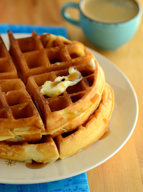 Vanilla Buttermilk Blender Waffles
