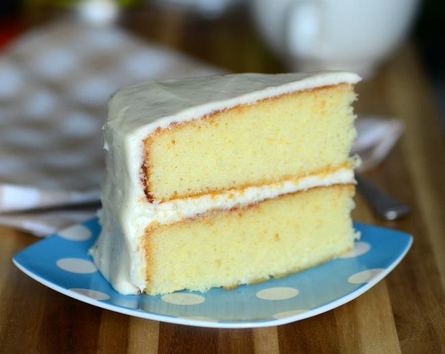 Very Vanilla Layer Cake with Vanilla Cream Cheese Buttercream