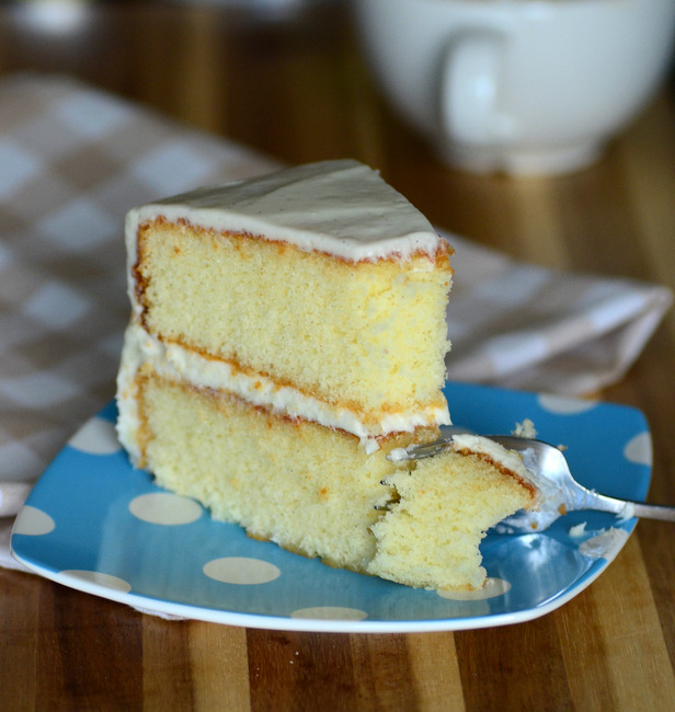 Very Vanilla Layer Cake with Vanilla Cream Cheese Buttercream
