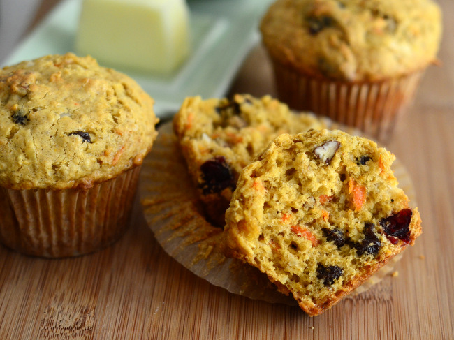Carrot Coconut Oatmeal Muffins
