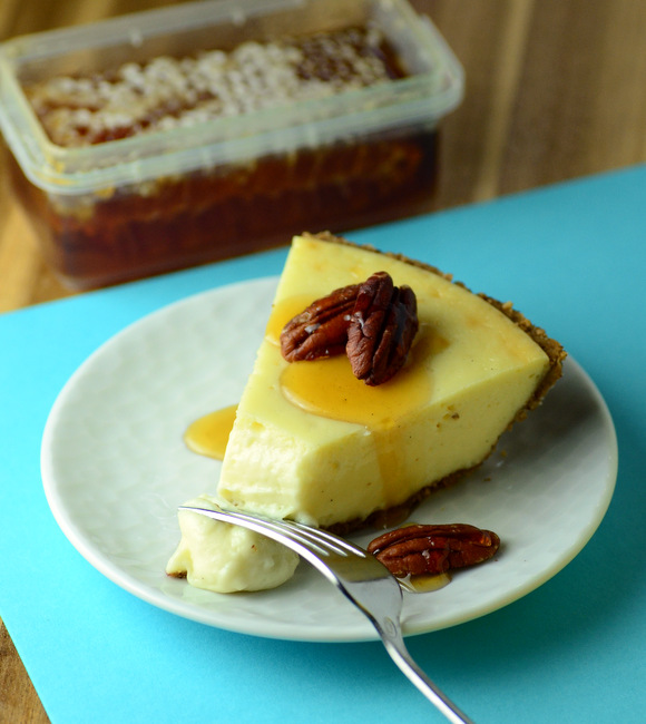 Honey Cheesecake with Pecan Crust