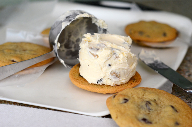 Homemade Chocolate Chip Cookie Dough Ice Cream Sandwiches